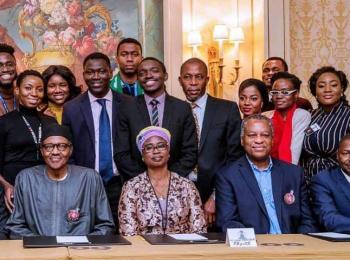 President Buhari in Paris