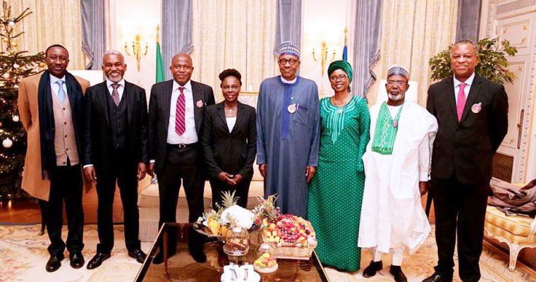 PRESIDENT BUHARI VISITS THE NIGERIAN EMBASSY PARIS