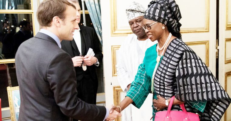 AMBASSADOR IRELE PRESENTS HER LETTER OF CREDENCE